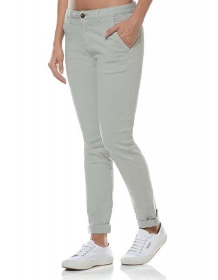 REIKO Sandy Chino Trousers - aluminium
