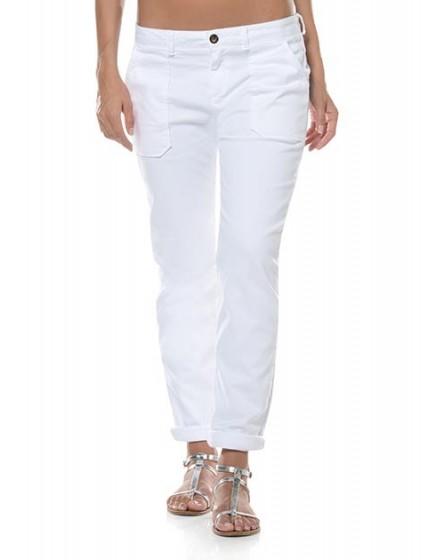 REIKO Sandrine street life chino Trousers - white