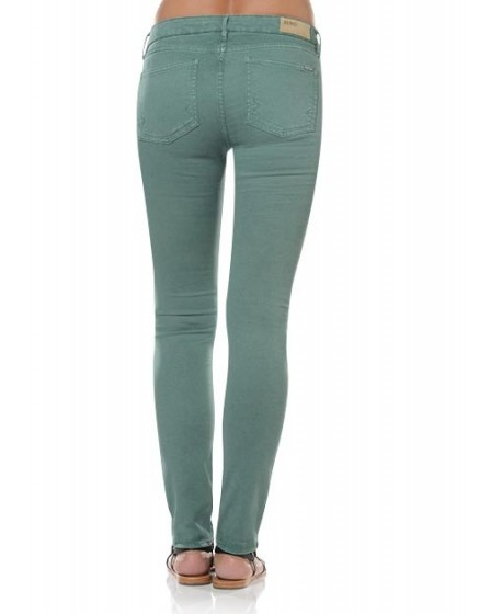 Noemie colored skinny Trousers - cactus