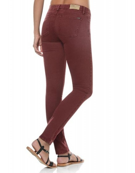 Noemie colored skinny Trousers - cranberry