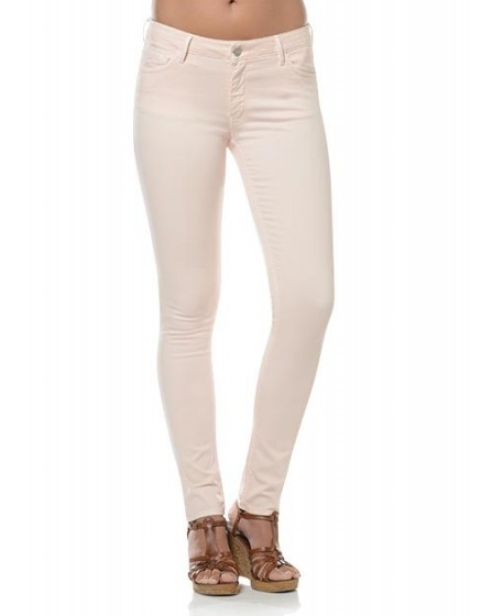 Noemie colored skinny Trousers - litchi