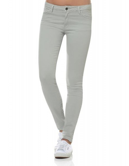 Colored slim trousers Tero - aluminium