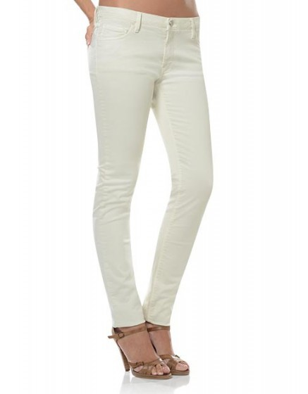 Colored slim trousers Tero - craie