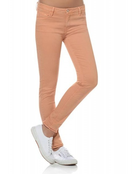 Pantalon slim coloré Tero - TOBACCO