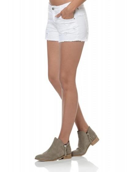 Short en jean à bord franc Stella - WHITE