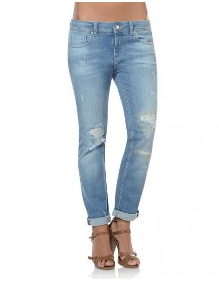 Washed boyfriend Jean Nina - denim-1320