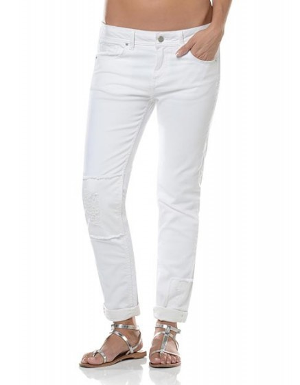 Jean Boyfriend délavé Nina - PATCH-WHITE