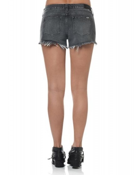 Short en jean à bord franc Stella - BLACK-DENIM