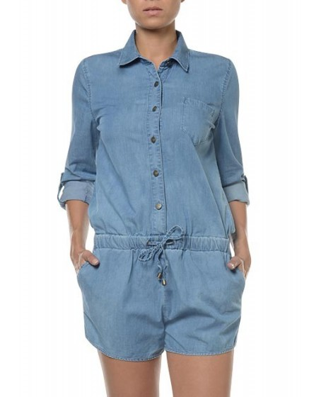 Combishort en denim Carly