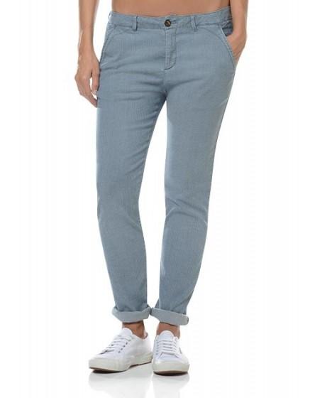 Pantalon chino rayé Sandy
