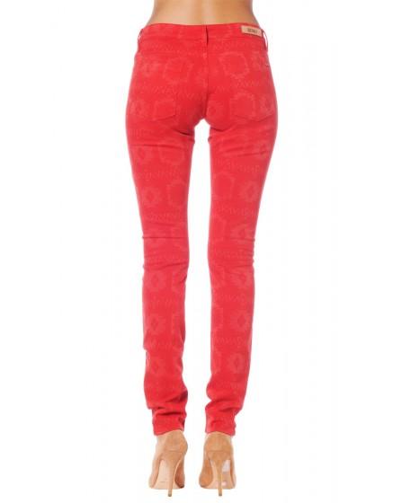 Skinny imprime Inca - RUBY-RED-PAT-