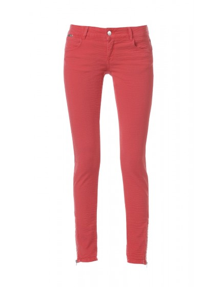 Skinny effet reptile - ROUGE-FRAISE