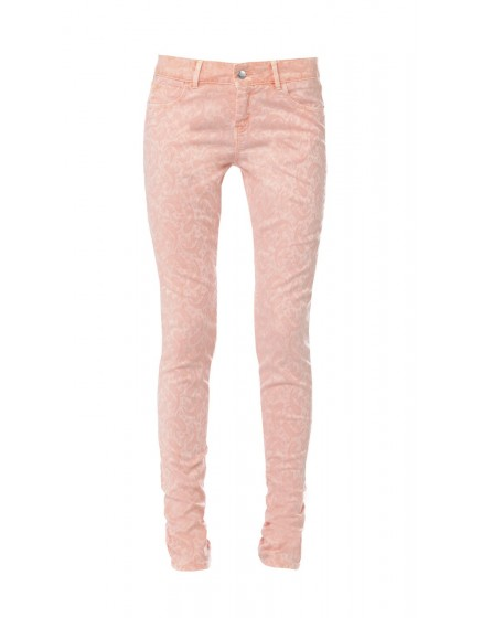 Baroque printed skinny Trousers - clementine