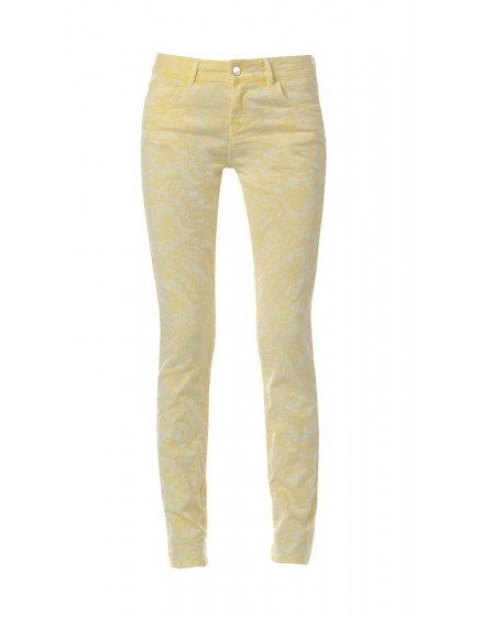 Pantalon skinny imprimé baroque - JAUNE-SOLEIL