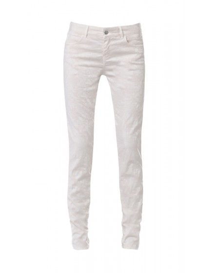 Pantalon skinny imprimé baroque - ROSE-POUDRE