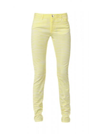 Zebra printed skinny Trousers - jaune-soleil