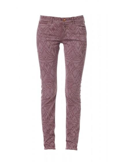 Pantalon skinny ethnique Louisa - OCRE-ROUGE