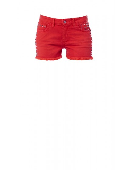 Short cloute colore - ROUGE-FRAISE