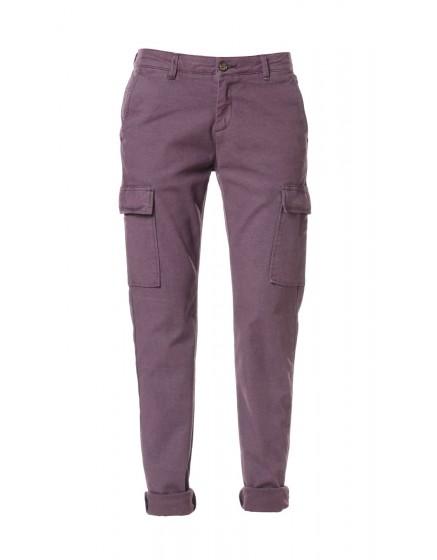 Pantalon chino army Candice - BOURGOGNE-