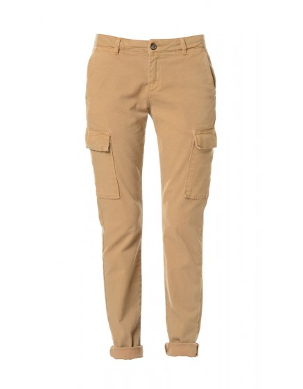 Pantalon chino army Candice - CURRY