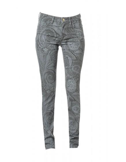 Pantalon skinny à motif Molly - KAKI-