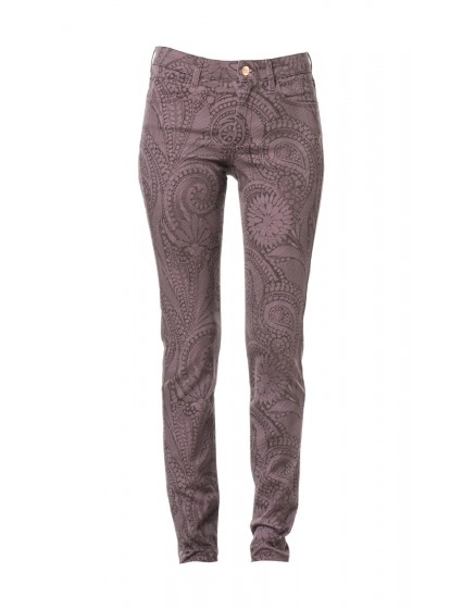 Pantalon skinny à motif Molly - BOURGOGNE-