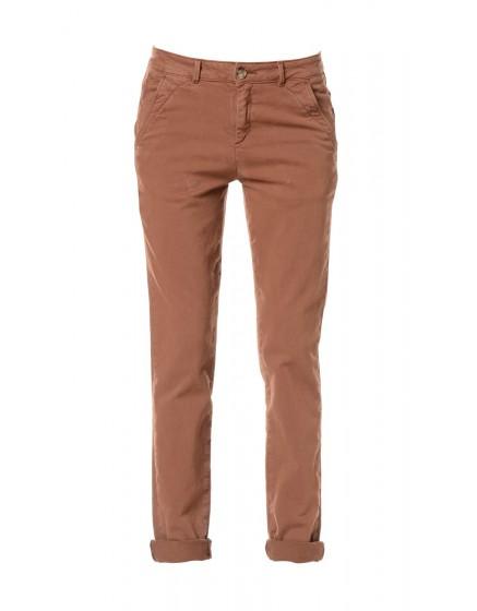 Pantalon chino toile teintée - ACAJOU