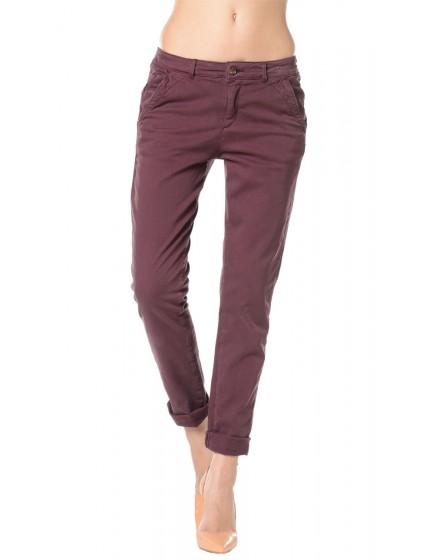 Pantalon chino toile teintée - BOURGOGNE-