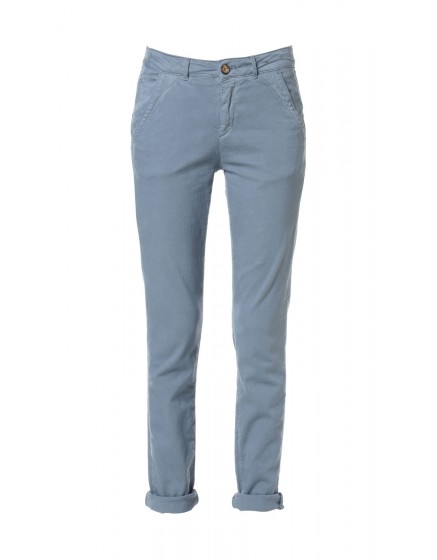 Pantalon chino toile teintée - ICE-BLUE