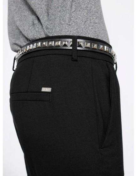 Studded leather Belt Mandy - black