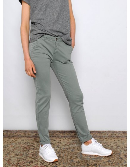 Pantalon chino SANDY - VERT-ARGILE