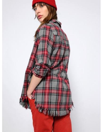 Chemise ample à carreaux Cassy