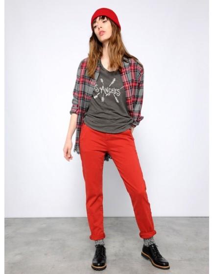 Pantalon chino SANDY - PAPRIKA