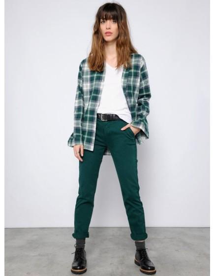 Pantalon chino SANDY - VERT-SAPIN