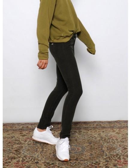 Pantalon skinny velours Nelly - CARBONE