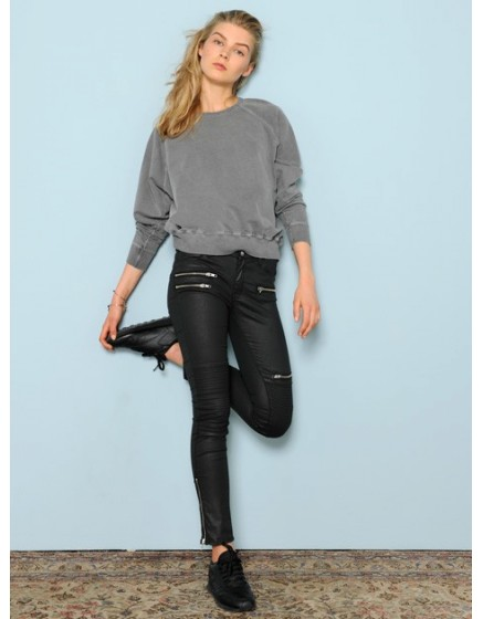 Sweat loose Pearl - GRIS CHINE