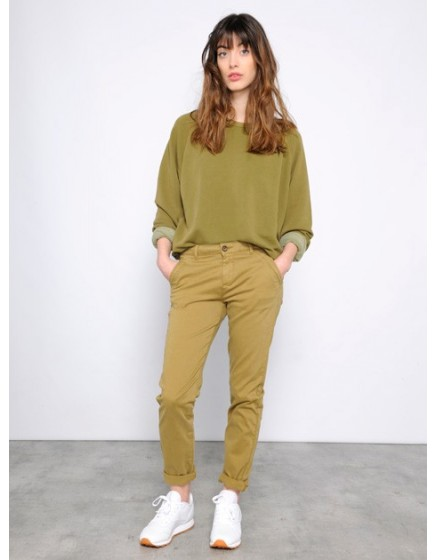 Sweat loose Pearl- OLIVE