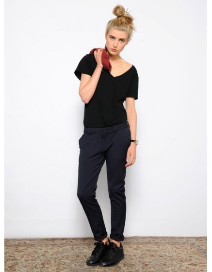 Pantalon cigarette Lizzy - DOTS-NAVY