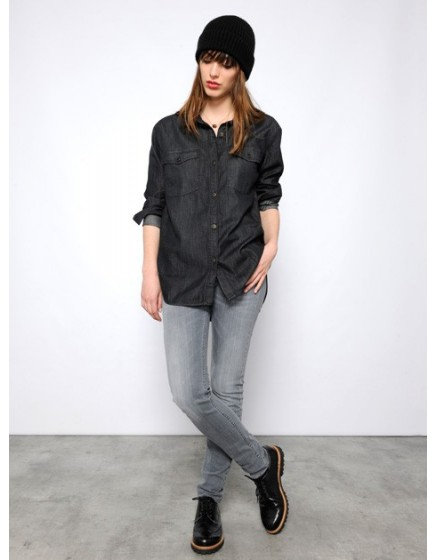 Chemise en jean Cody - BLACK-DENIM