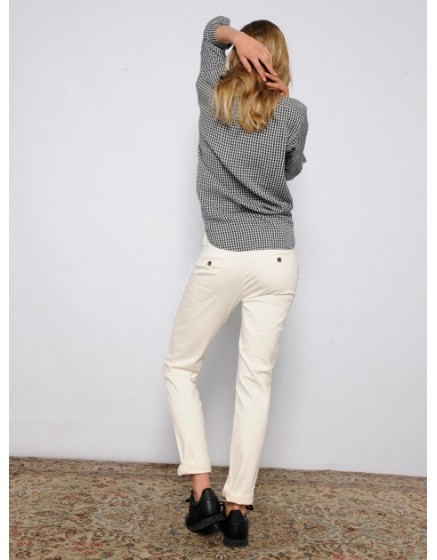 Pantalon chino SANDY - IVOIRE