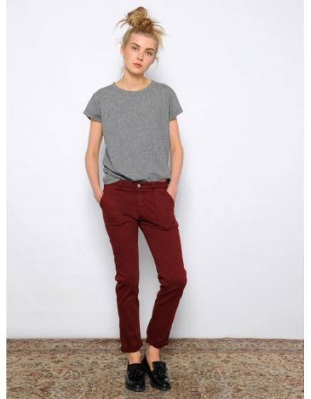 Pantalon chino street life Sandrine - BOURGOGNE-
