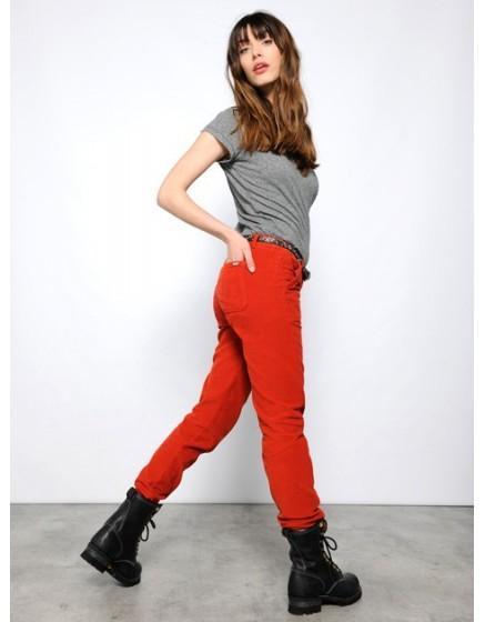 Pantalon chino street life velours Sandrine - PAPRIKA