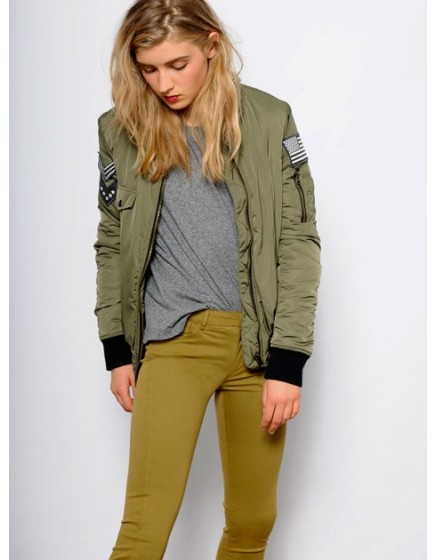 Colored skinny Trousers Nelly - olive