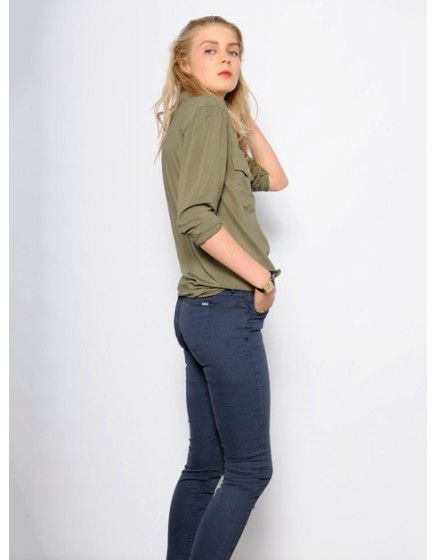 Pantalon skinny couleur Nelly - NAVY