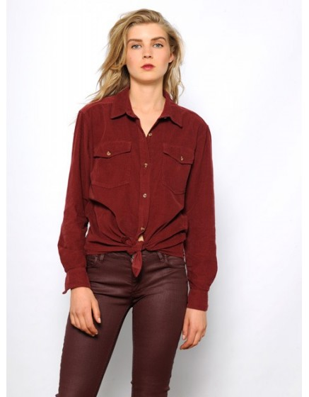 Enduction skinny Trousers Nelly - wine