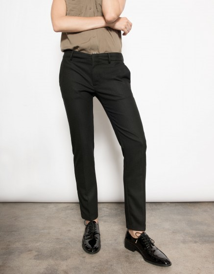 Pantalon cigarette Lizzy - PLAIN BLACK