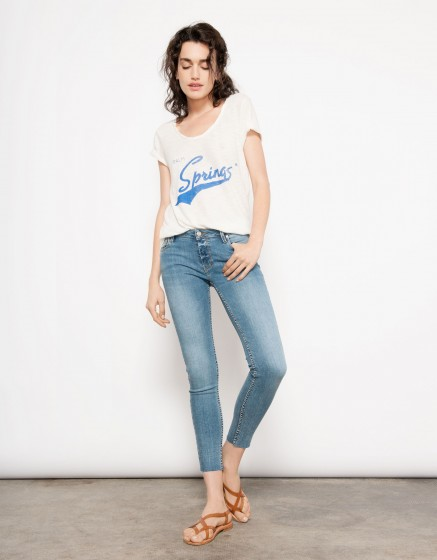 Jean skinny cropped Lily - DENIM V-17