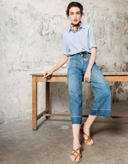 Jean Flare cropped Paris-DENIM V-10