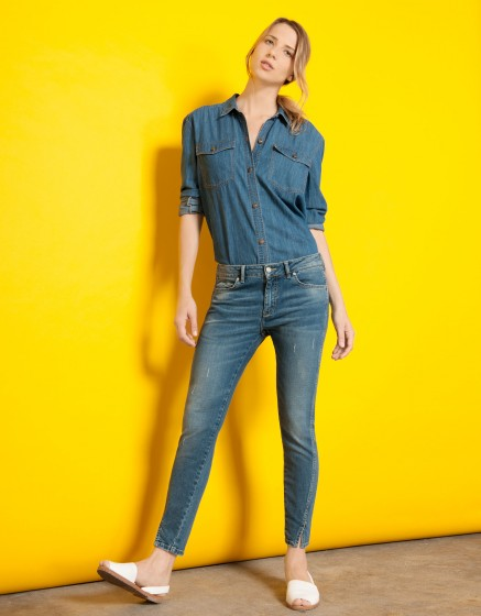 Jean skinny cropped Daytona-DENIM V-02