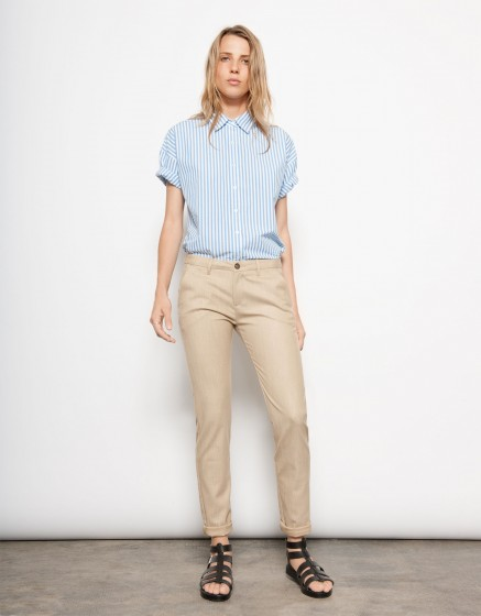 Pantalon chino SANDY-VINTAGE OCRE